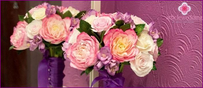 Clay home wedding bouquet