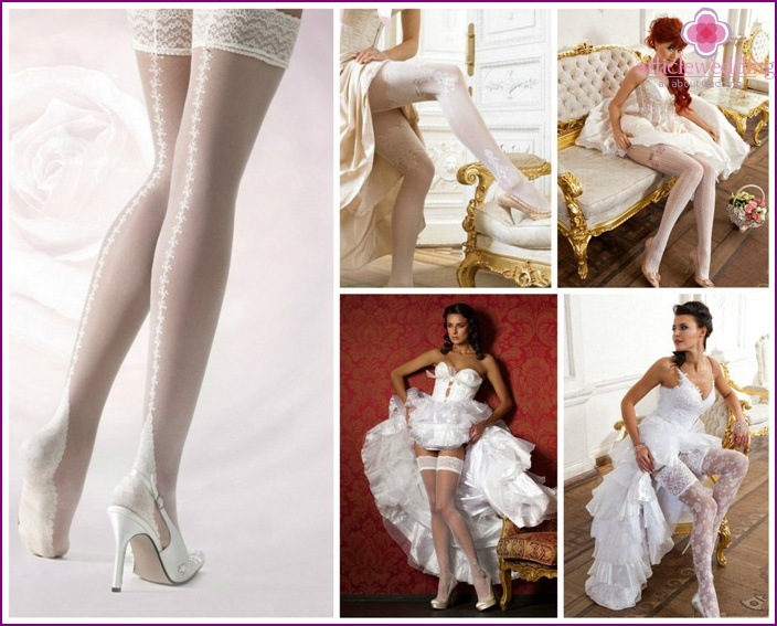 Stockings or tights under a wedding dress