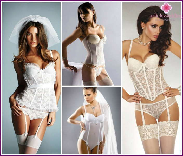 Beautiful wedding lingerie