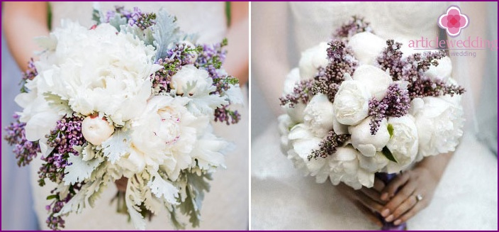 Lavender provence combined with satin peonies