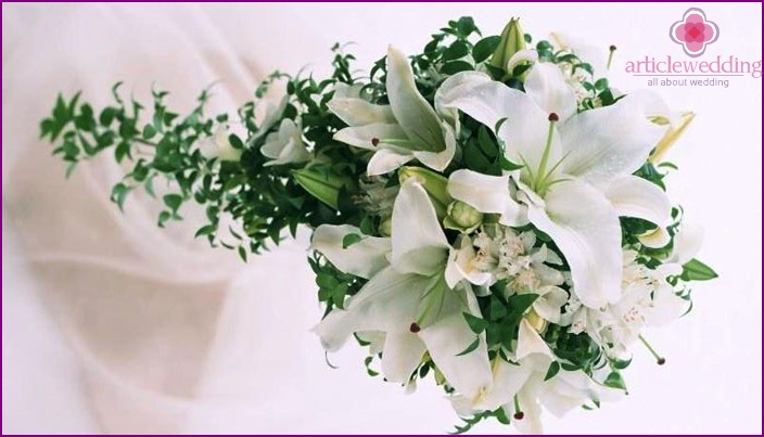 White composition for the bride