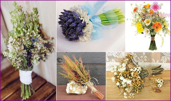 Rustic and Country Wedding Arrangements