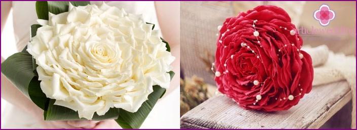 Unusual glamoria wedding bouquet