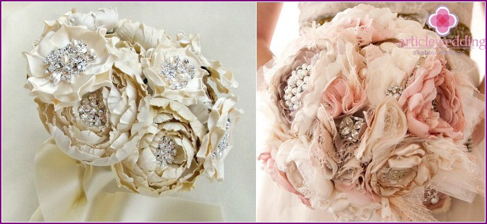 Fabric accessory with beautiful brooches
