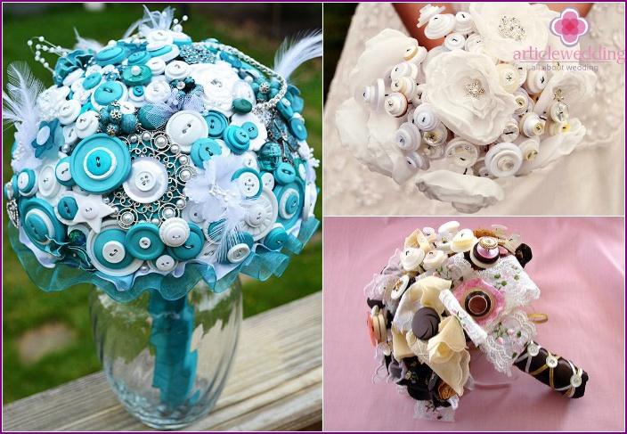 Original bright button bouquet