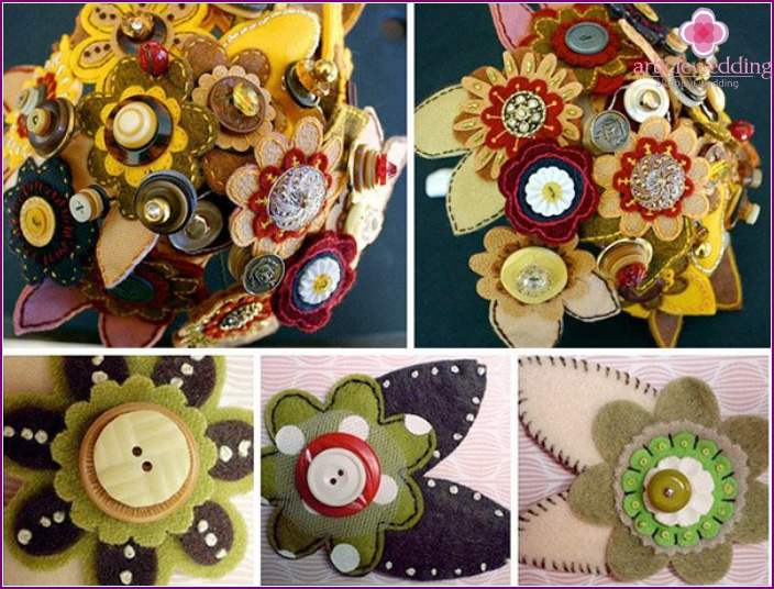 Buttons with felt