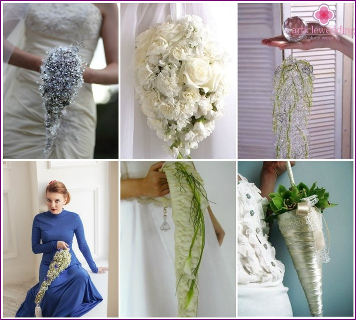 A bunch of icicles for the bride and groom