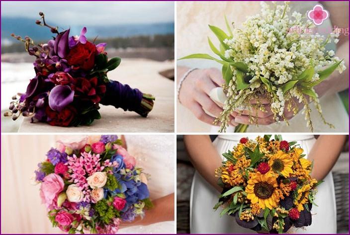 Brautsträuße für verschiedene Jahreszeiten