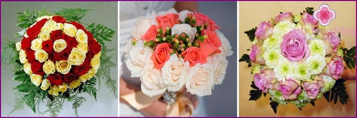 Biedermeier-shaped wedding flowers