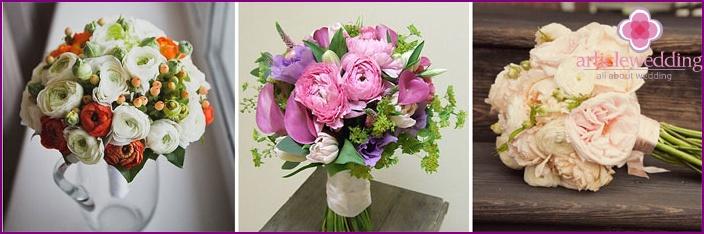 Flower arrangement for the bride