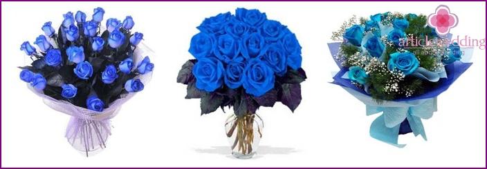 Wedding Bouquet: Blue Roses