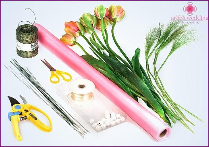 Accessori per bouquet da sposa fai-da-te