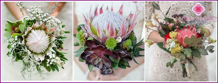 Wedding flower arrangement for the bride