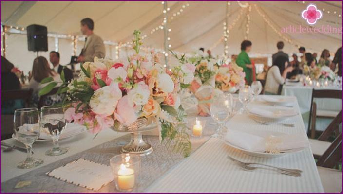 Peony wedding festive table