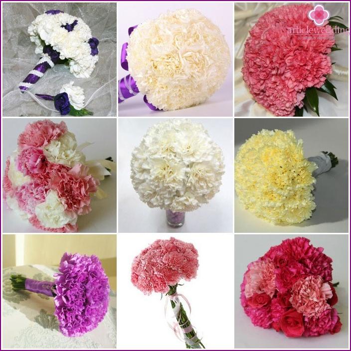 Wedding Bouquet: Carnations