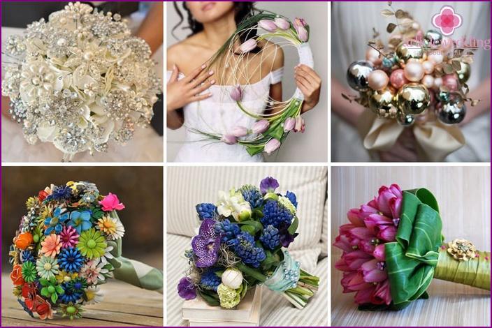 Original bouquet for the bride