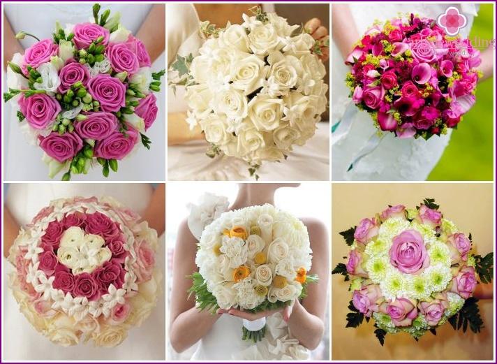 Flower arrangements for the bride