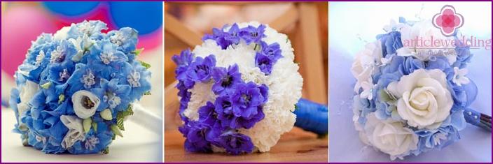 Delphinium newlywed bouquets