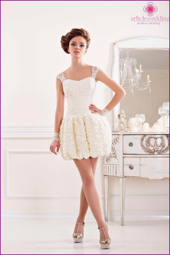 Short wedding dress perfect for rumba