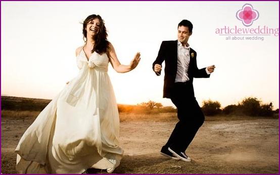 Staging a wedding dance