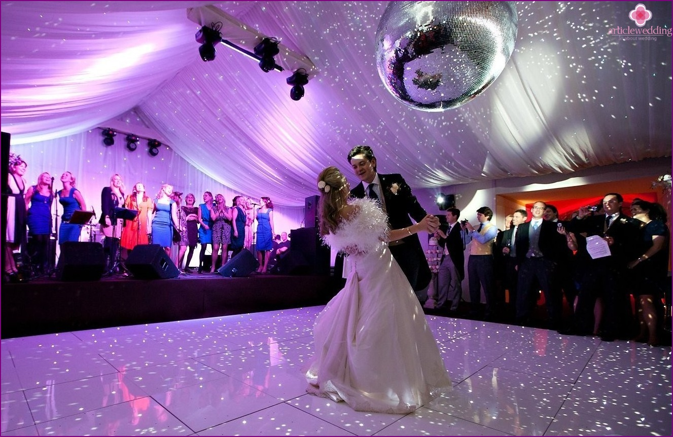 Wedding dance with effects
