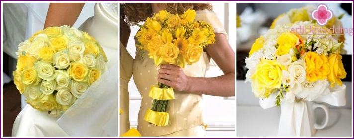 Wedding flower arrangements with roses