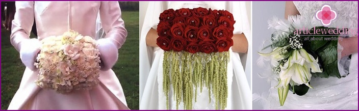 Bridal bouquet clutch is popular in the West