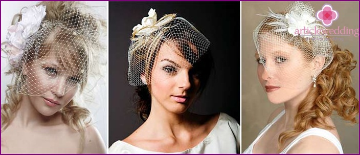 Russian style veil