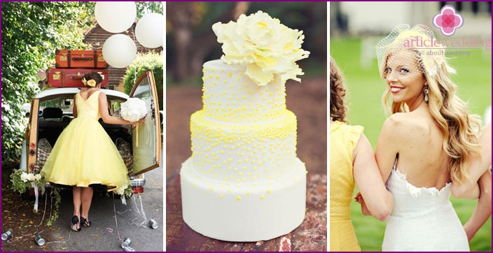 Yellow Wedding Accessories