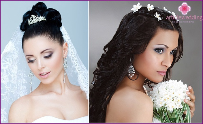Wedding makeup for brunette