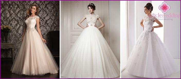 Lush closed wedding dresses
