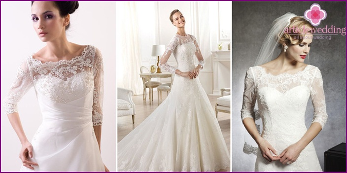 Lace Lace Top Wedding Dresses