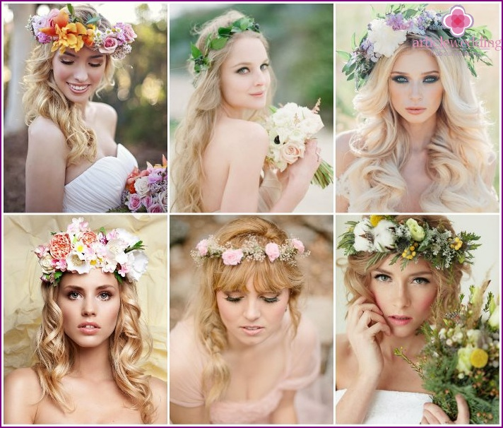 Rustic and Shabby Chic Wreaths for Brides