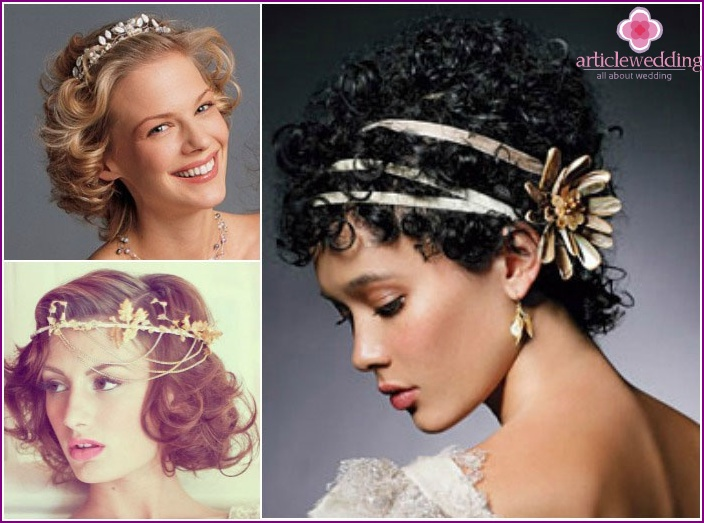 Greek style: hairstyles for short hair
