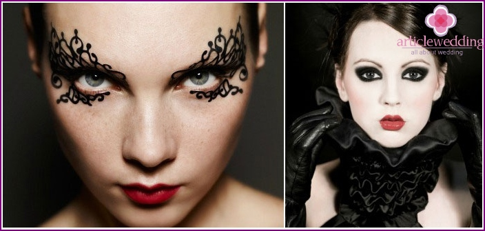 Witch make-up for bachelorette party