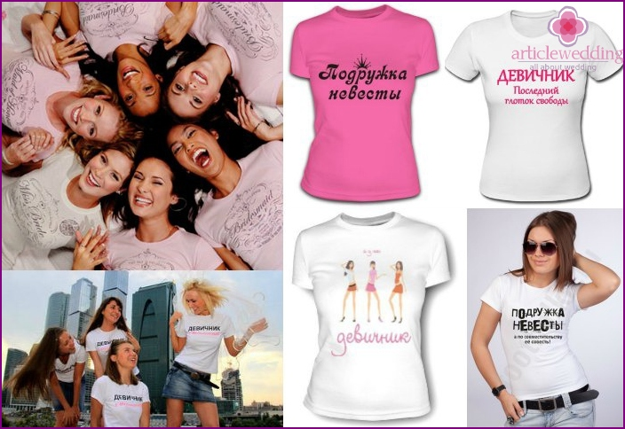 Funny t-shirt with bridesmaids