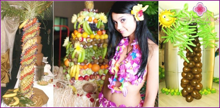 Accessories for a Hawaiian bachelorette party