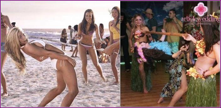 Hawaiian Bachelorette Party Contest - Limbo