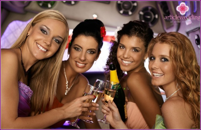 Have a bachelorette party in a limousine