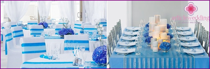 White-blue hall for sailors