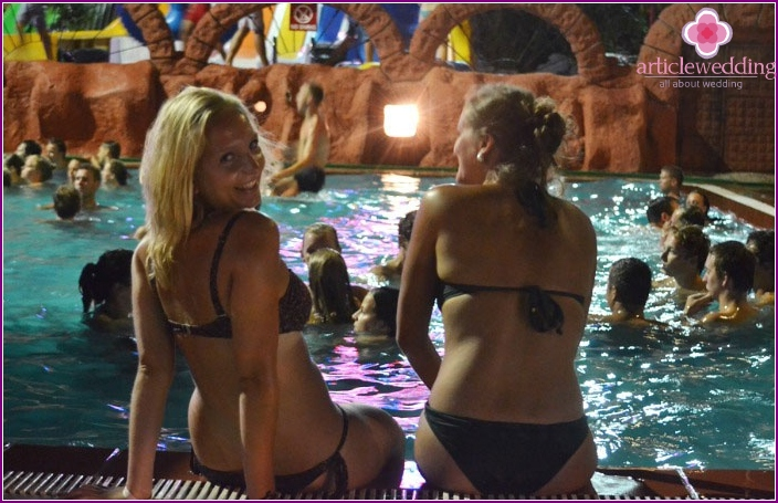 Original bachelorette party at the water park