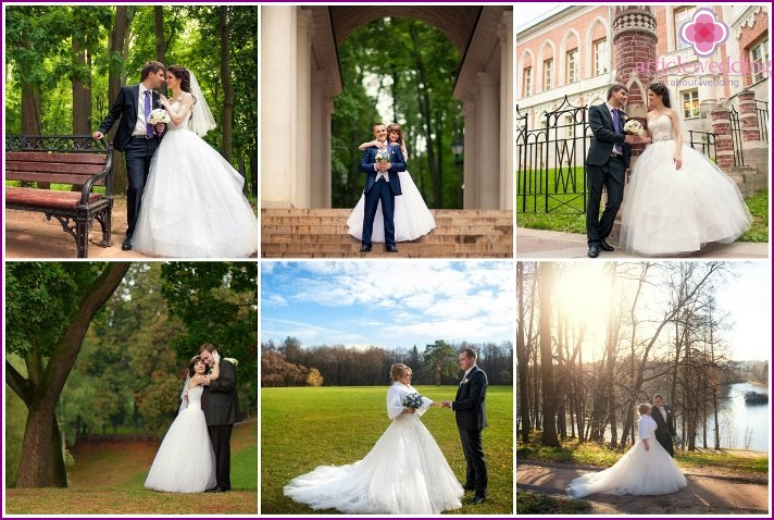 Shooting the newlyweds at the Tsaritsyno Museum in Moscow