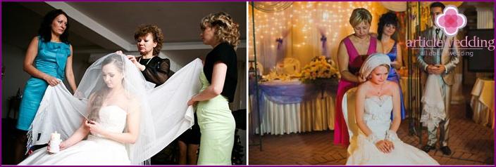 Wedding Veil Removal at Home Wedding