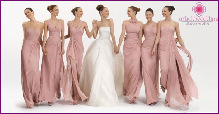 Solid bridesmaid dresses