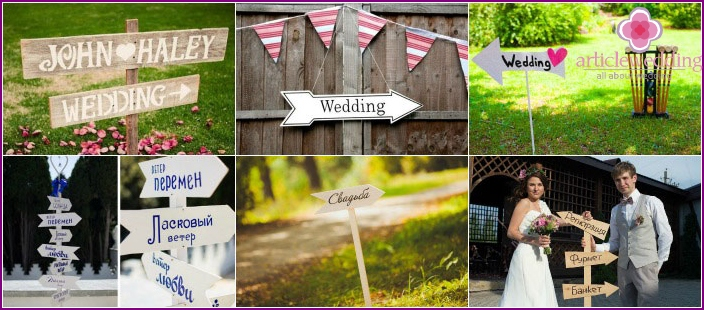 Plaques for wedding photo shoot