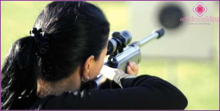 Shooting range - an unusual place for a bachelorette party