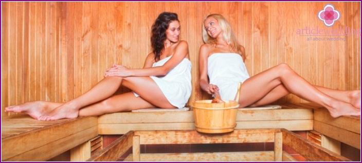 Sauna - an idea for a healthy bachelorette party