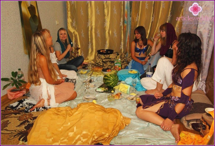 Oriental bachelorette party at home