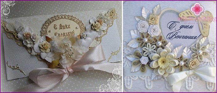 Celebration style wedding card
