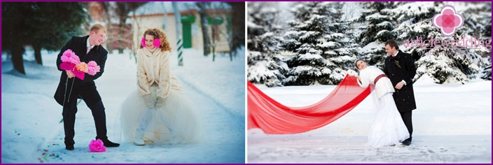 Contrast Winter Wedding Photos
